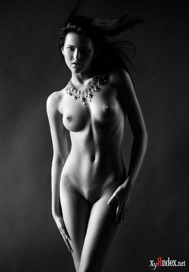 Обнаженная Черно Белая Фотография