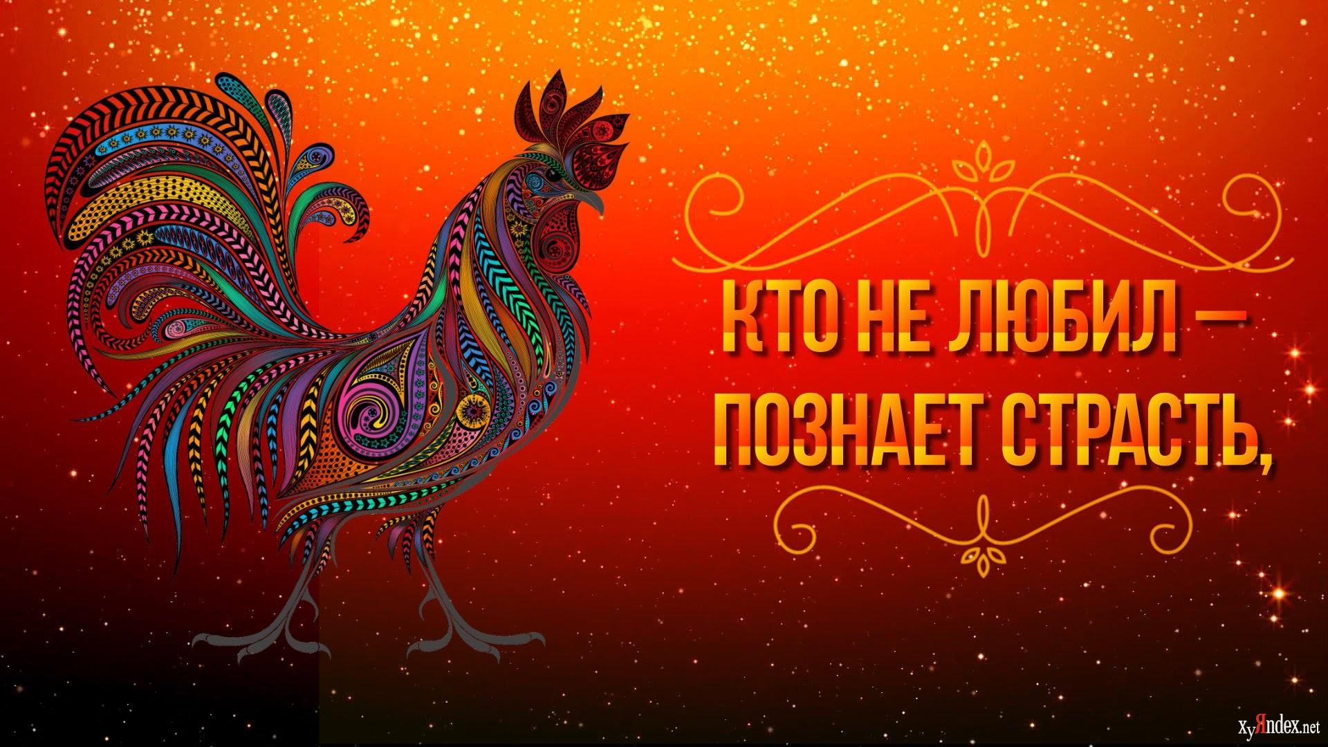 Открытки видео, открытка с новым годом петуха 2017