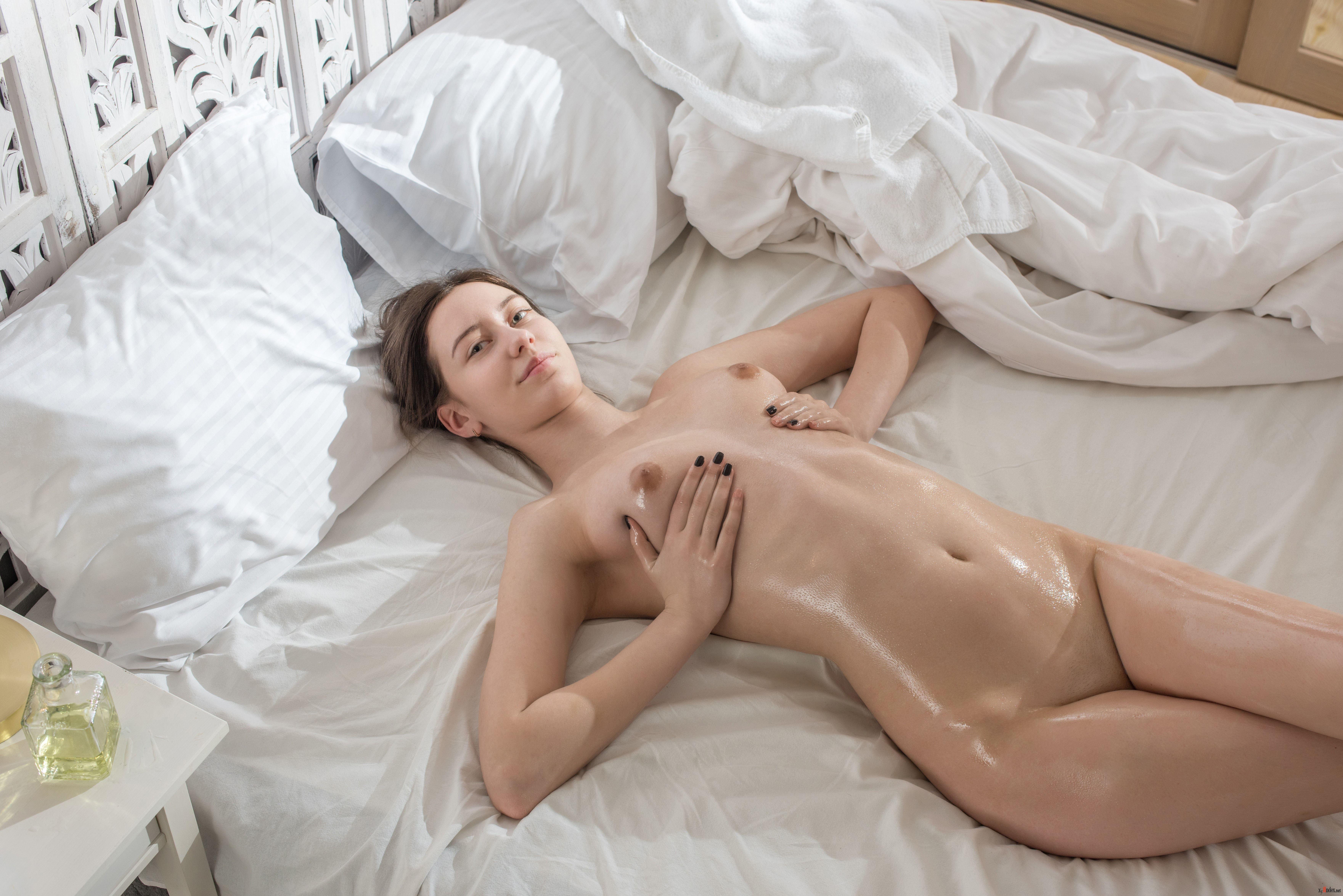 Hot hazel bond in lingerie