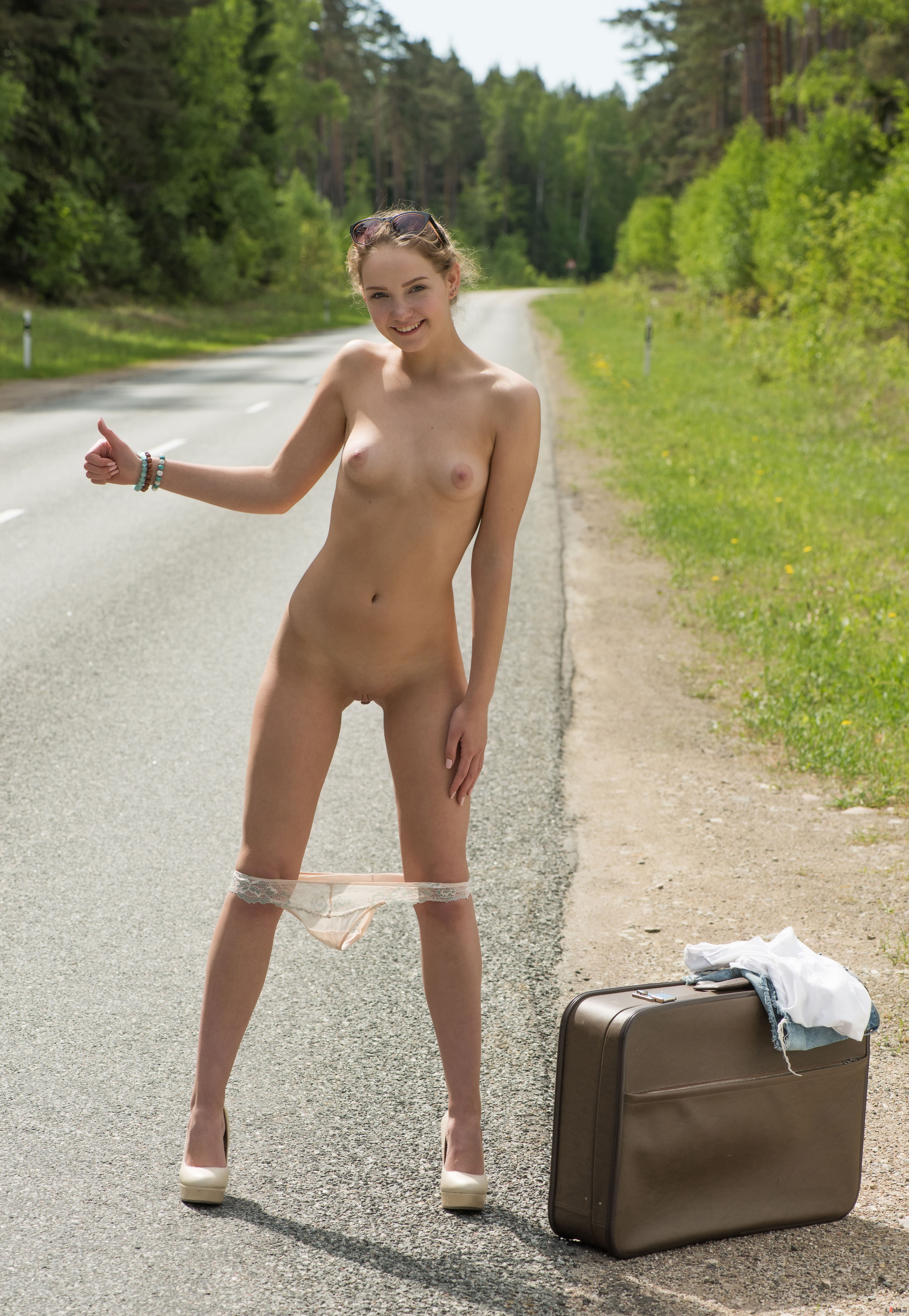 Chloe The Naked Hitchhiker