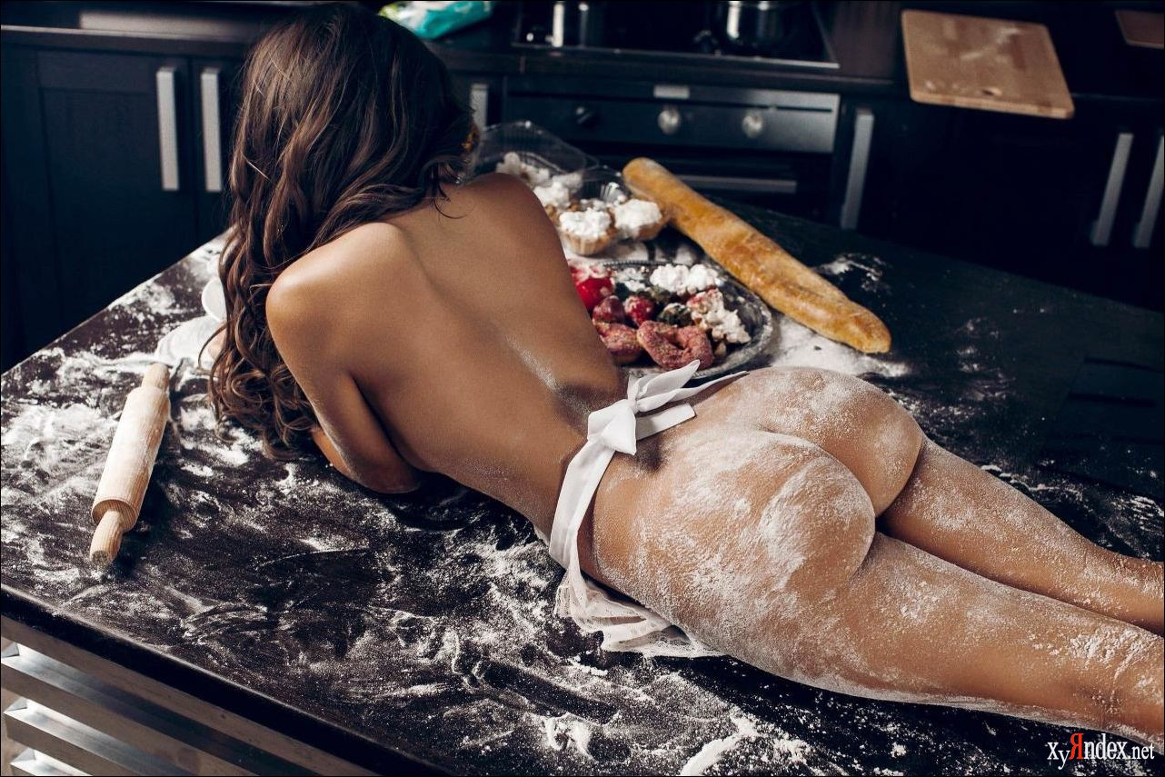 Sexy girl being cooked